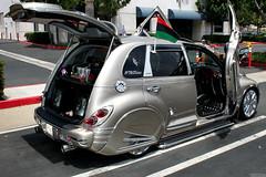 automobile, automotive exterior, wheel, vehicle, custom car, automotive design, chrysler pt cruiser, subcompact car, city car, compact car, land vehicle, motor vehicle,