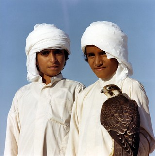 Unknown young falconers in Abu Dhabi, 1978 or 1979