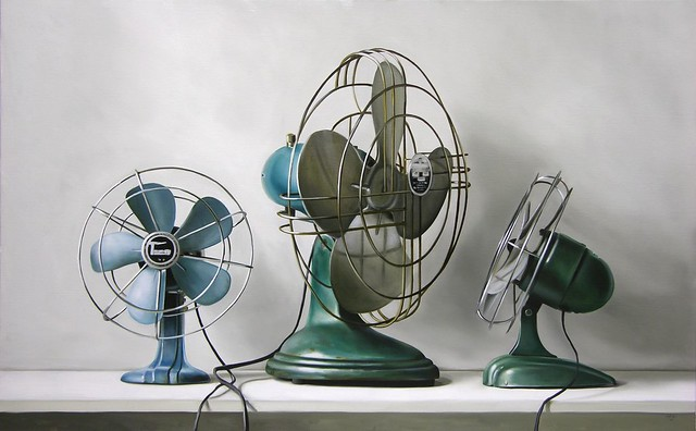 Three Vintage Fans