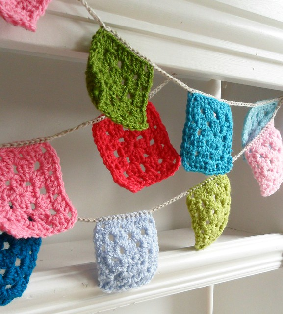 crochet bunting garlands