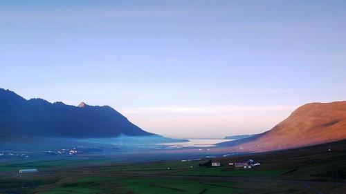 sunset island iceland sonnenuntergang 日落 neskaupstaður 冰岛