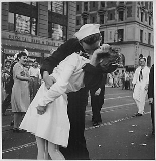 New York City celebrating the surrender of Japan. It's called taking advantage of the moment.