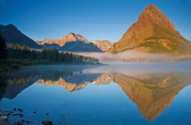 Sunrise on Swiftcurrent Lake
