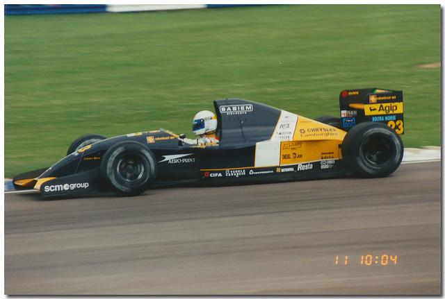 Alex Zanardi Minardi Lamborghini M192 F1. 1992 British GP Silverstone