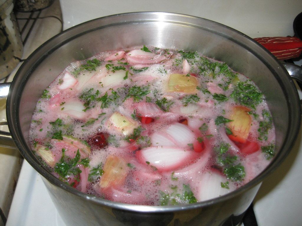 day before making the potassium broth: beet, parsely, onion, potatoes, carrots, and celery (recipe below)