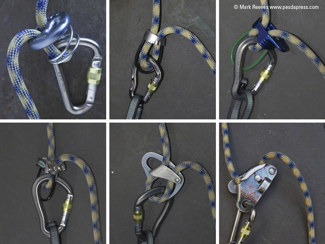 A selection of belay devices