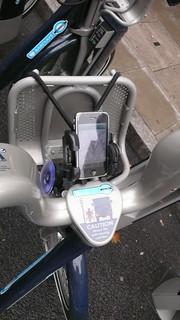 Heath Robinson Boris Bike iPhone mount