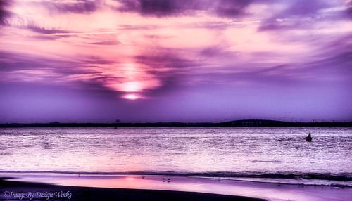 ocean sunset water shore altanticocean imagebydesignworks