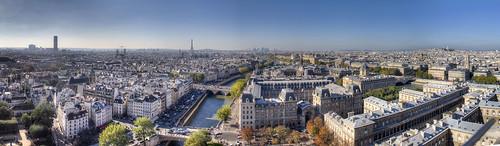 Paris vue de Notre dame de Paris