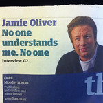 On Being Jamie Oliver...