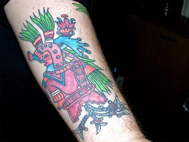 aztec inspired tattoo flickr photo sharing. Black Bedroom Furniture Sets. Home Design Ideas