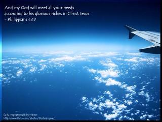 Philippians 4:19 (N.I.V.)