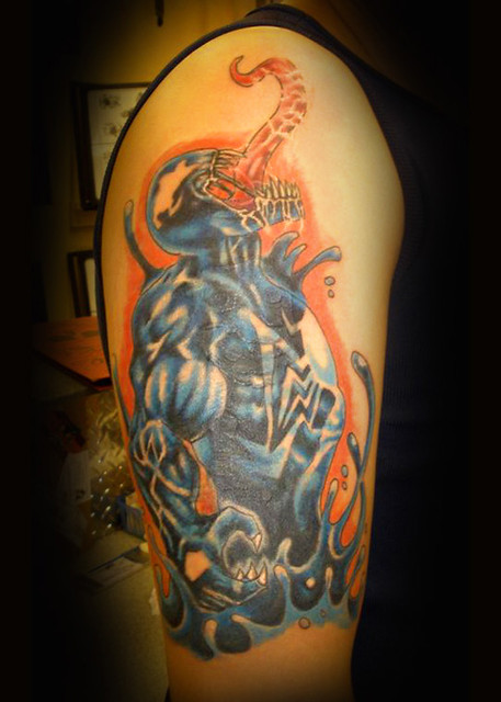 Venom Tattoo cover up of old