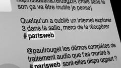 internet explorer 3 ? #parisweb