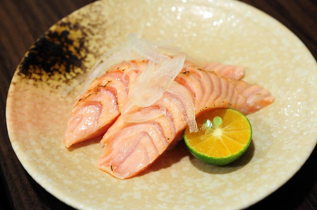 竹壽司-炙鮭魚握壽司