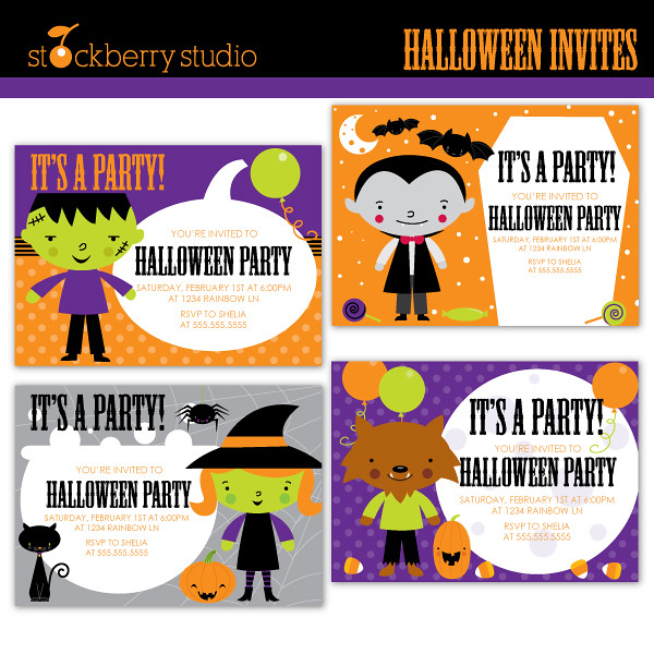 halloween clipart invitations - photo #43