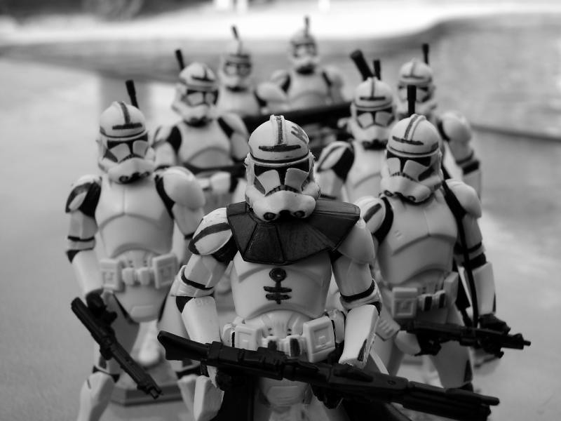 Clone troops B&W