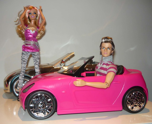 ken barbie car