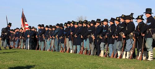 civil war reenactment at antietam
