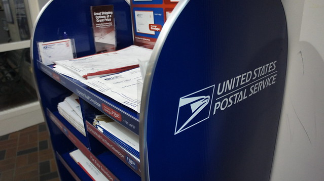 New packaging display at the United States Postal Service
