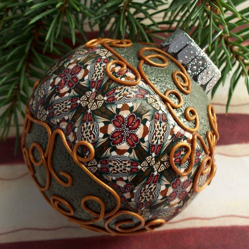Polymer Clay Christmas Ornament, by CAG