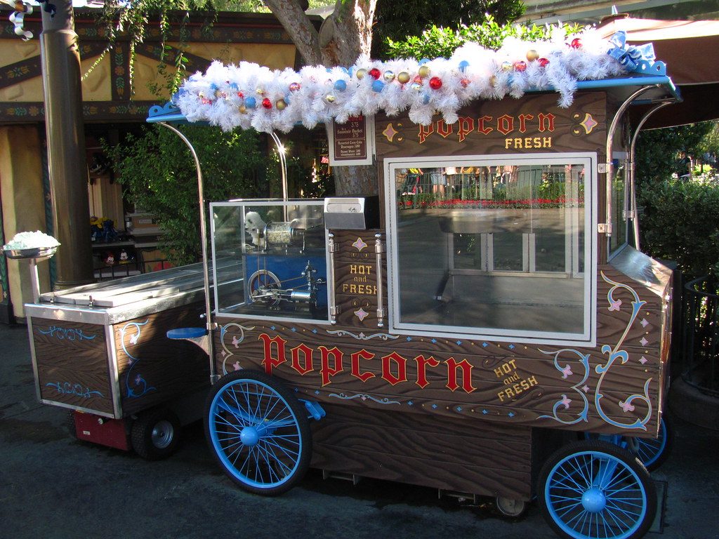 The Holidays Hit The Matterhorn Popcorn Stand