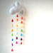 Rainbow Raindrops Cloud Mobile - A Funky Felt Wall Decoration from Clara Luna