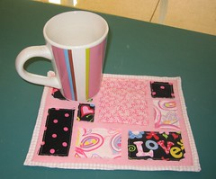 Ticker Tape Mug Rug