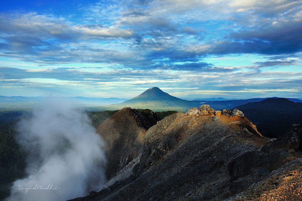 Mt.Sinabung View from Mt.Sibayak