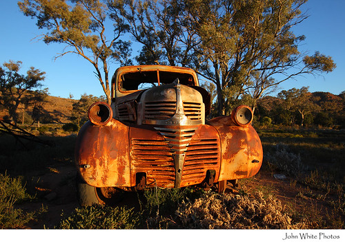 Rusty old car Outback Australia