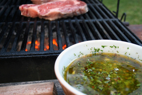 Chimichurri with steak