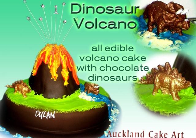 Dinosaur Edible Cake Images Nz : DINOSAUR VOLCANO BIRTHDAY CAKE - a photo on Flickriver