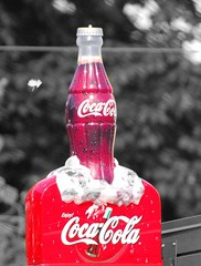 soft drink(1.0), carbonated soft drinks(1.0), bottle(1.0), drink(1.0), cola(1.0), coca-cola(1.0),