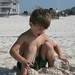 Sam, content to play in the sand by himself :)
