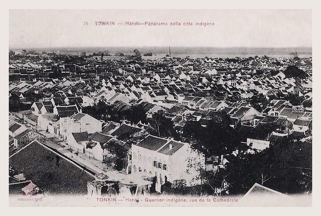 TONKIN - Hanoï. Panorama della citta indigèna