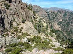 Vue du ravin de Bonifacio depuis Bocca di Lariciu (le vrai col !)