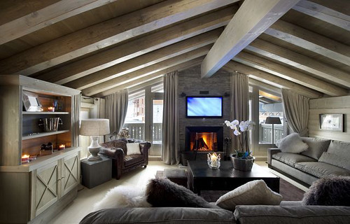 Ecologis id es d co int rieur bois d coration maison chalet for Idee interior design