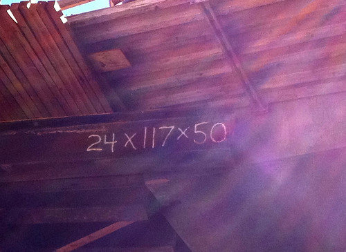 metal beam with numbers, photo by cogdogblog on Flickr
