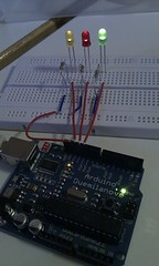 personal computer hardware(0.0), display device(0.0), electronic instrument(0.0), breadboard(1.0), circuit component(1.0), microcontroller(1.0), electronics(1.0), electrical network(1.0),