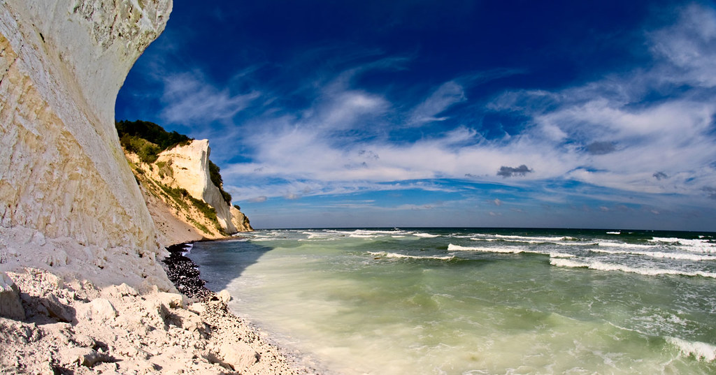 La mer creuse les falaises à Mons Klint - Photo de Nils Volkmer