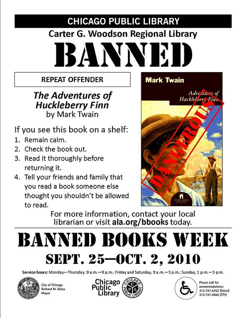 The Adventures of Huckleberry Finn - Banned Books Week 2010 Flyer