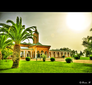 Rabat - Mosque Lalla Soukaina - View with Sun :: HDR