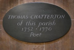 Thomas Chatterton plaque