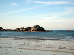 St. Elizabeth's castle at mid-tide