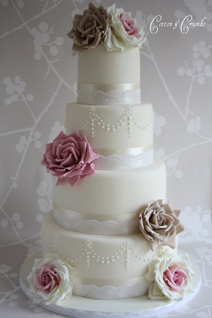Vintage Rose wedding cake Probably my most favourite design although it