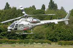 G-SKYN - 1982 build Aerospatiale AS355F-1 Ecureuil II, visiting Barton