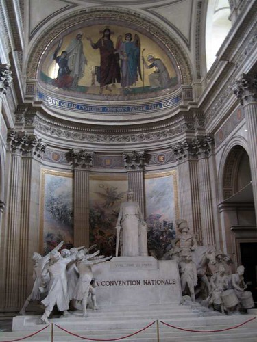 Statuary at the Pantheon Paris