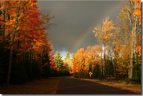 Rainbow and autumn glory
