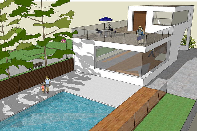 Sketchup pool house sample 5 flickr photo sharing for Pool design sketchup