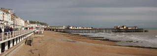 長さ 1289 メートルのビーチ Volímai 近く の画像. fire pier hastings arson exfordy
